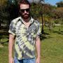 Camisa De Botão Tie Dye - Tamanho M - Manga Curta - Espiral