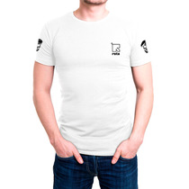 Camisa Camiseta Branca Bordada - Rota