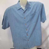 Camisa Imp Jamaica Jaxx Seda Textura Azul G Botao Coco 582
