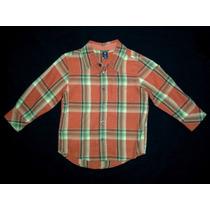 Camisa Social Xadrez Gap_tam 4_caipira,festa Junina_laranja