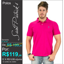 Camisa Polo Saint Patrick´s G1 Ao G8 Piquet ( Pink )