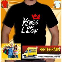 Camiseta Kings Of Leon Camisa Banda Masculina Unissex Rock