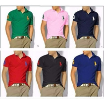 Kit C/10 Camisa Polo Masculina Lacoste, Tommy, Hollister