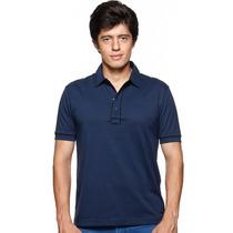 1858 - Vr Menswear - Polo M.curta - Algodão 100% - Marinho