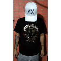 Bone E Camiseta Armani Exchange Origimal (kit Ax)