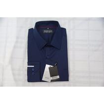 Camisa Social Masculina Hugo Boss Cor Azul Escuro .
