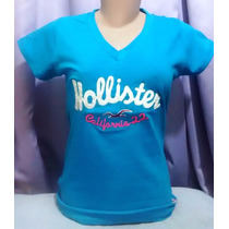 Kit C/10 Camisetas T-shirts Femininas Hollister R$174,99