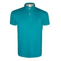 Camisa Ricardo Almeida Gola Polo Camiseta Azul Claro