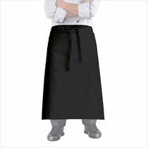 Avental Cintura Unisex Preto Para Cozinha