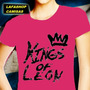 Camisa Kings Of Leon Baby Look Feminina Camiseta Rosa Banda