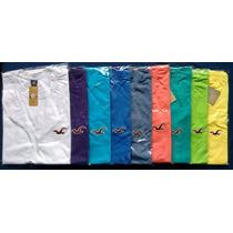 Camiseta Masculina Hollister Abercrombie 100% Algodão