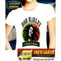 Camiseta Bob Marley Camisa Baby Look Feminina Jamaica Reggae