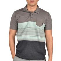 Camiseta Polo Oakley Blocked Cinza