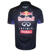 Camisa Red Bull Formula 1 Racing Team Gola Polo Preta