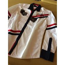 Camisa Paul & Shark Branca Vintage M Paul And Shark