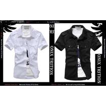 Camisa Slim,fit,social Varias Cores Pronta Entrega Luxo Onix