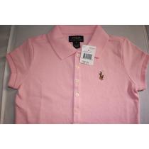 Camisa Gola Polo Infantil Feminina Polo Ralph Lauren