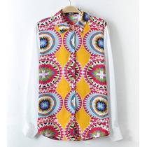 Camisa Social Estampada. Azulejo Português. Importada!!!
