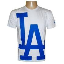Camiseta Los Angeles Branca Dodgers Baseboll