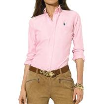 Camisa Social Polo Ralph Lauren Feminina Rosa
