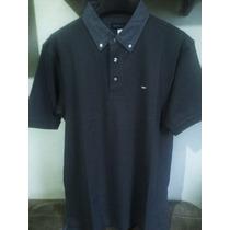 Camisa Polo Masculina Elle Et Lui Azul Marinho Tamanho G / M