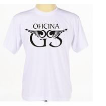 Camiseta Oficina G3 Customizada Banda Rock Gospel Adulto