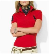 Camiseta Polo Camisa Feminina - Ralph Lauren P M G Gg
