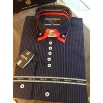 Camisas Slim Fit Design Italiano,social,casual,esporte Fino