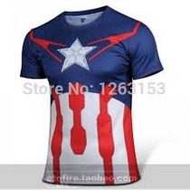 Camisa Capitão América Vingadores 2 Pronta Entrega