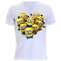 Camiseta Personalizada Dos Minions Tamanho Adulto