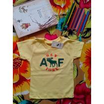 Camiseta Kids Infantil Algodão Abercrombie Bordada!