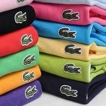 Camisa Pólo Lacoste Masculina Kit C/3 Peças