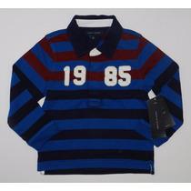 Camisa Gola Polo Infantil Tommy Hilfiger - Tamanho 3 Anos