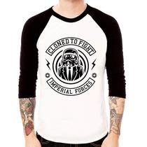 Camiseta Star Wars Raglan 3/4 - Unissex