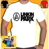 Camiseta Linkin Park Camisa Bandas Rock Branca Masculina