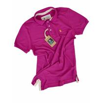 Camisa Polo Masculina Cor Pink Escuro Vários Modelos Qualid.