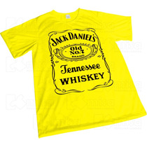 Camisa Sublimação Amarela Presente Whiskey Jack Daniels