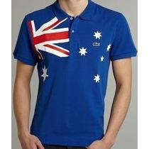 Camisa Polo Lacoste País Austrália Com Frete Gratis P/ País