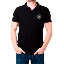 Camisa Gola Polo Team Glock Preta Masculina - Tática Militar