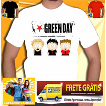 Camiseta Green Day South Park Camisa Banda Rock Humor Punk