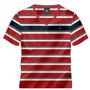 Camisa Camiseta Masculina Listrada 100% Algodão Decote V Bs