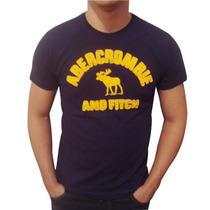 Camiseta Bordada Abercrombie & Fitch 100% Algodão