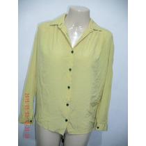 Linda Camisa Em Seda- Made In Italy Tam: G