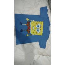 Camisa Importada Bob Esponja Para Meninos De 6 A 7 Anos