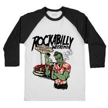 Blusa Camiseta Raglan 3/4 Zombie Las Vegas