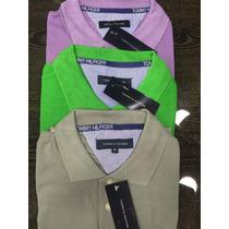 Kit C/ 3 Camisas Camiseta Polo Masculina Tommy Hilfinger