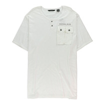Sean John Masculino Duplo Bolso Henley Camisa