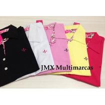 Camisa Polo Dudalina Feminina Atacado - Kit C/ 5 - Promoção!