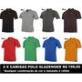 2 X Camisas Polo Slazenger Vários Tamanhos 8 Cores Plus Size