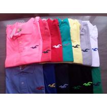 Camisa Polo Masculinas Holister | Comprou 4 (cada) +1 Grátis